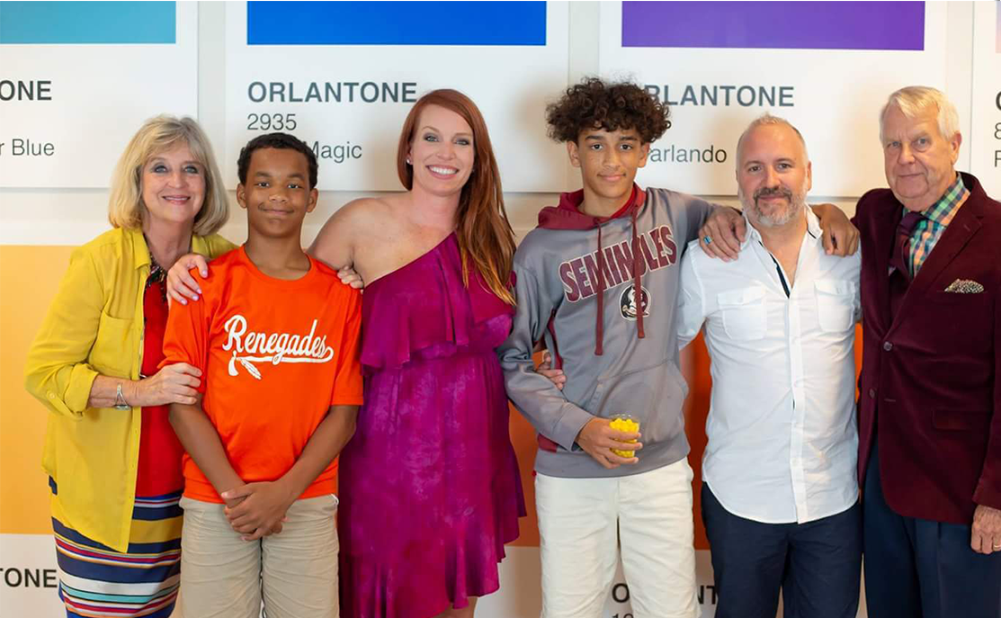Stephanie celebrates Orlantone success with her boys...