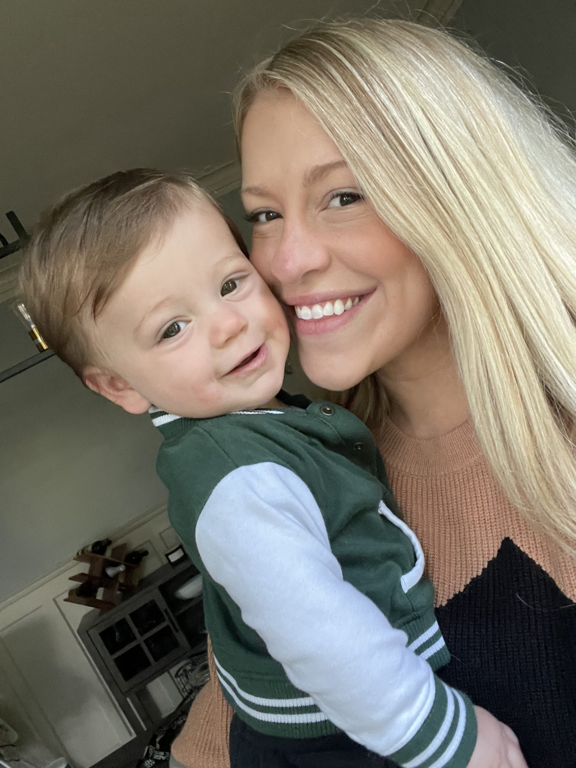 Tori takes a selfie with her little man...